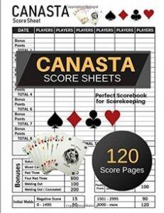 canasta score sheets - score book
